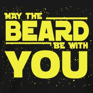 Beard - Beard - May The Beard Be With You - Men's Premium T-Shirt