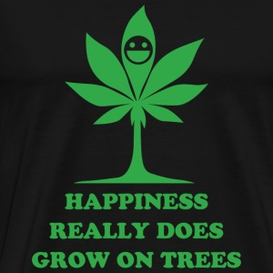 Cannabis - happiness really does grow on trees - Men's Premium T-Shirt