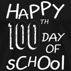 School - Happy 100th Day Of School - Men's Premium T-Shirt