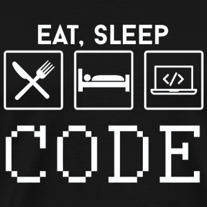 CODE - EAT, SLEEP CODE - Men's Premium T-Shirt