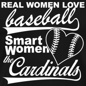 Baseball - real women love baseball smart women - Men's Premium T-Shirt
