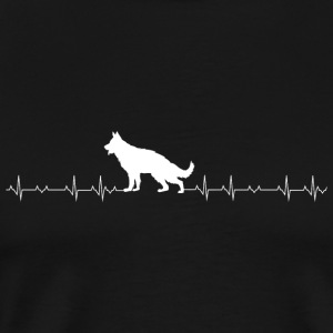 German Shepherd - German Shepherd Heartbeat - Men's Premium T-Shirt