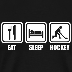 Hockey - Eat Sleep Ice Hockey - Men's Premium T-Shirt