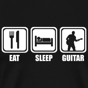 Guitar - Eat Sleep Guitar - Men's Premium T-Shirt