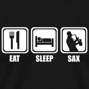 Saxophone - Eat Sleep Saxophone - Men's Premium T-Shirt