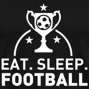 FOOTBALL - EAT SLEEP FOOTBALL - Men's Premium T-Shirt
