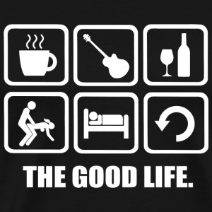 Guitar - Coffee Guitar Wine Sex The Good Life - Men's Premium T-Shirt