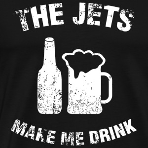 Beer - the jets make me drink - Men's Premium T-Shirt