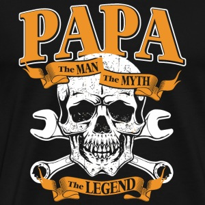 Papa - Papa The Man The Myth The Legend - Men's Premium T-Shirt