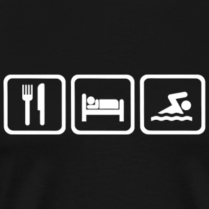 Swimming - Funny Eat Sleep Swimming Repea - Men's Premium T-Shirt