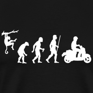 Scooter - Evolution of Man and Scooter - Men's Premium T-Shirt