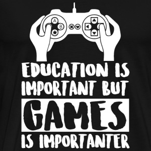 Game - Education Is Important But Games Is Impor - Men's Premium T-Shirt