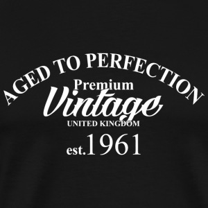 Premium - aged to perfection premium vintage uni - Men's Premium T-Shirt