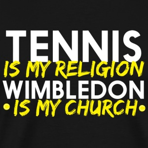 Tennis - tennis is my religion wimbledon is my c - Men's Premium T-Shirt