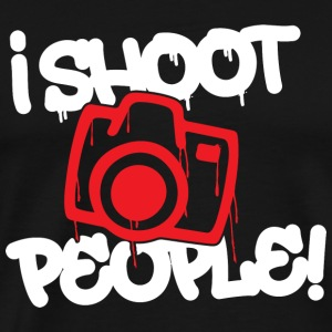 Photographer - I shoot people - Men's Premium T-Shirt
