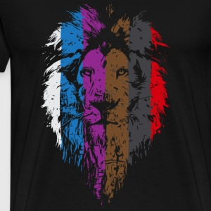 Lion - BJJ Belt Rank Lion Face for Jiu Jitsu - Men's Premium T-Shirt