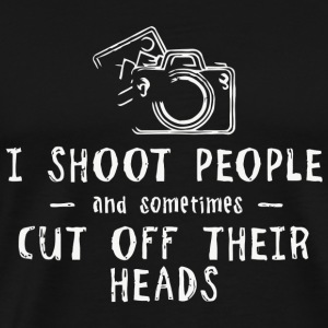 Photographer - Funny Retro I Shoot People Photo - Men's Premium T-Shirt