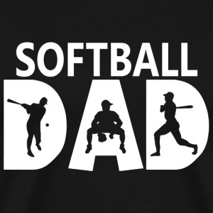Softball - Custom Softball Dad s - Men's Premium T-Shirt