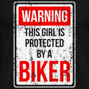 Biker - Warning Biker - Men's Premium T-Shirt