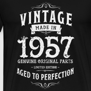 1957 - Made in 1957 Vintage 60th Birthday Tee G - Men's Premium T-Shirt