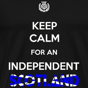 Scotland Keep Calm for an Independent Scotland - Men's Premium T-Shirt