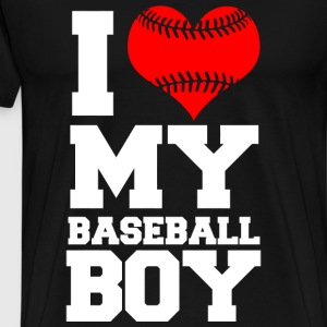 Baseball - i love my baseball boy - Men's Premium T-Shirt