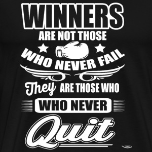 Boxing - Boxing: Winners are those who never qui - Men's Premium T-Shirt