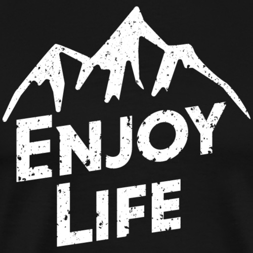 Enjoy Life White Top Mountain - Men's Premium T-Shirt