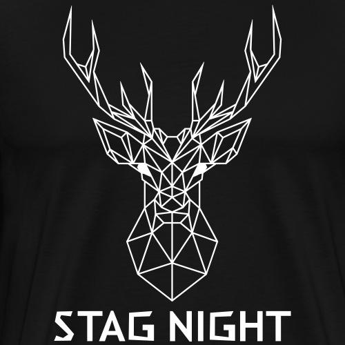Stag Night Geometric - Men's Premium T-Shirt