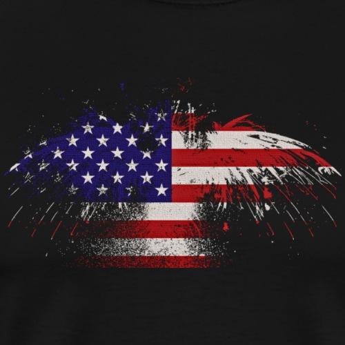 Patriotic Splash - Men's Premium T-Shirt
