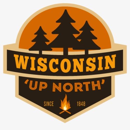 Retro Wisconsin Up North - Men's Premium T-Shirt
