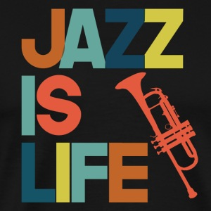 Jazz is life - Men's Premium T-Shirt