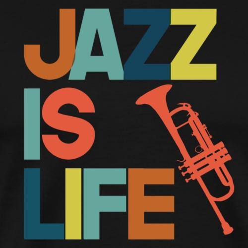Jazz is life - Men's Premium T-Shirt