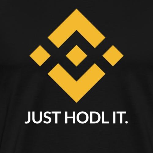 Binance (BNB) Coin Crypto Hodl - Men's Premium T-Shirt