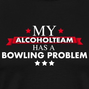 Bowling Teamshirt for professional drinkers - Men's Premium T-Shirt
