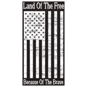Land Of Free Because Of The Brave Black - Men's Premium T-Shirt