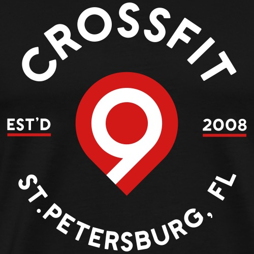 CrossFit9 Established 2008 (White) - Men's Premium T-Shirt