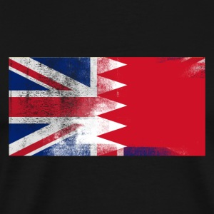 British Bahraini Half Bahrain Half UK Flag - Men's Premium T-Shirt