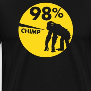 98 Percent Chimp - Men's Premium T-Shirt
