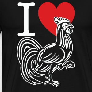 I HEART LOVE COCK - Men's Premium T-Shirt