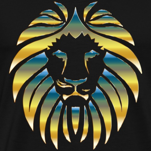 Prismatic Lion Design - Men's Premium T-Shirt