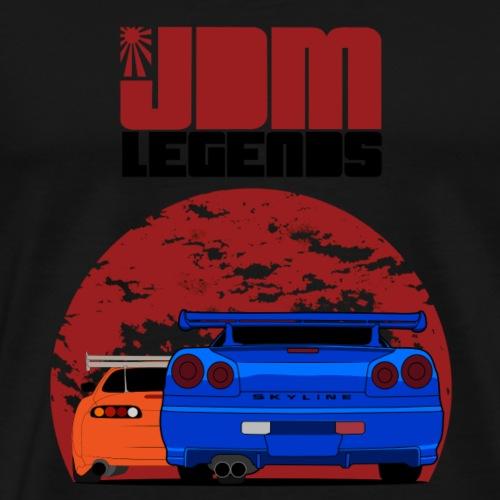 JDM Legends Nissan Skyline GTR R34 & Toyota Supra - Men's Premium T-Shirt