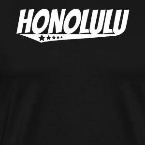 Honolulu Retro Comic Book Style Logo - Men's Premium T-Shirt