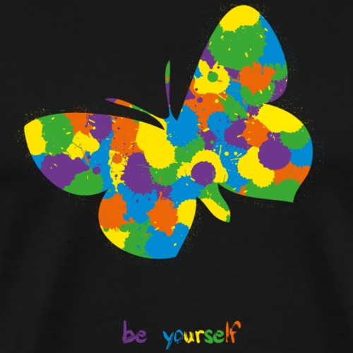 Butterfly - be yourself - Men's Premium T-Shirt