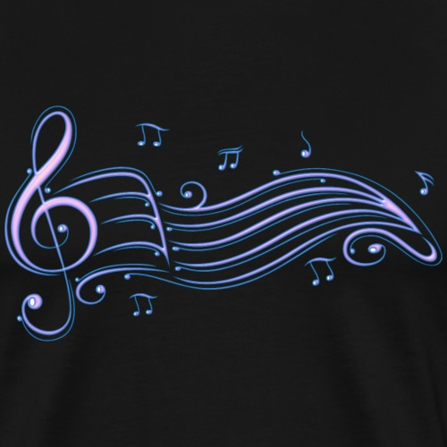 Music, clef with music sheet - Men's Premium T-Shirt