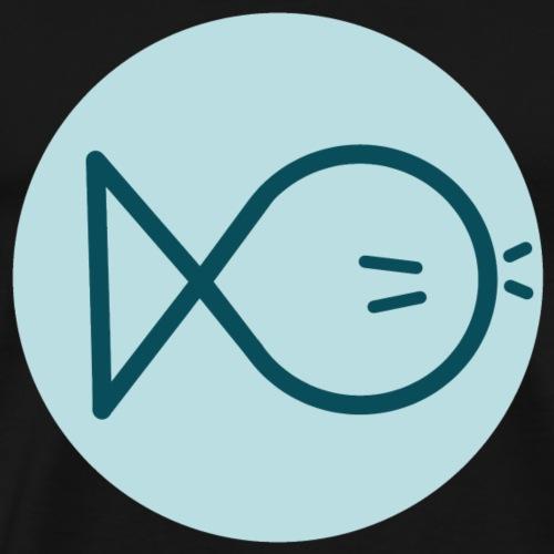 Logo moustache fish - Men's Premium T-Shirt