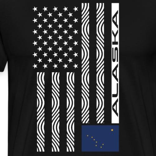 Modern US State Flag T-Shirt: ALASKA - Men's Premium T-Shirt