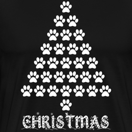 Christmas Paw Dog Footprint Xmas - Men's Premium T-Shirt