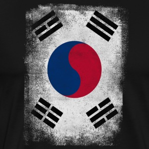 South Korea Flag Proud Korean Vintage Distressed - Men's Premium T-Shirt