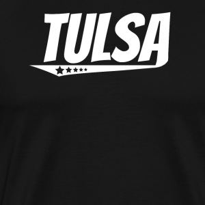 Tulsa Retro Comic Book Style Logo - Men's Premium T-Shirt